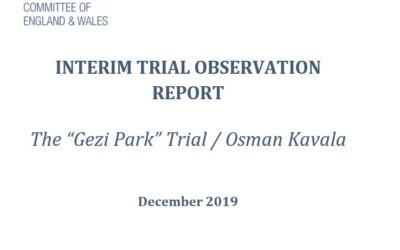 """BHRC Interim Trial Report: The """"Gezi Park"""" trial continues with the ongoing detention of Osman Kavala in defiance of ECHR decision ordering his immediate release"""