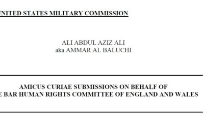 BHRC issues Amicus to the Guantanamo Bay Military Tribunal on torture derived evidence