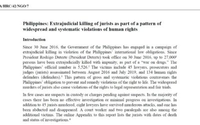 BHRC joins UPR Submission raising concern for the Philippines' lawyers